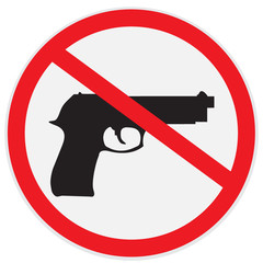 No, guns, allowed, sign