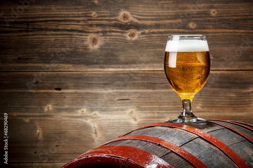 Foto op Canvas Bier / Cider Beer glass