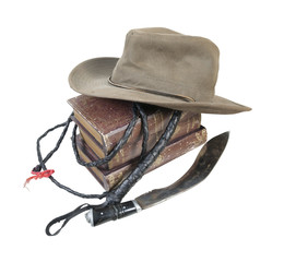 Adventure Books Aussie Hat Whip Dagger