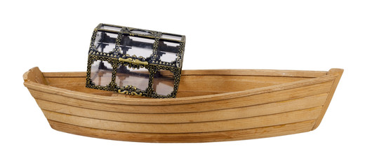 Boat With See-Through Treasure Chest