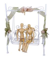 Dating on a White Garden Swing