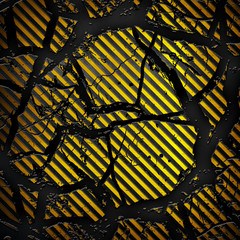 cracked striped metal background