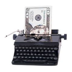 Money in Manual Typewriter