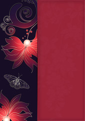 Beautiful floral background for the design of menu or card.