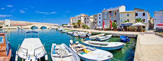 Island of Pag waterfront panorama