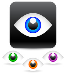 Eye vector graphics. Eyeball, vision, optics vector.