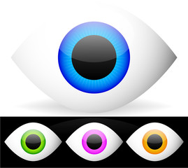 Eye vector graphics. Eyeball, vision, optics vector.