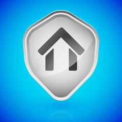 House, home on shield. Home security.