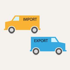 import export vector transportation background