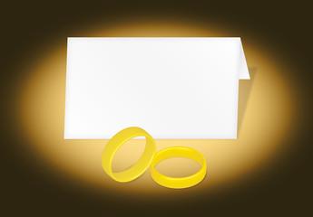 Biglietto matrimonio con anelli 2