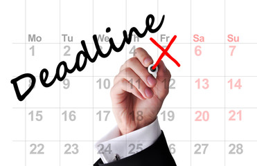 Deadline date on calendar