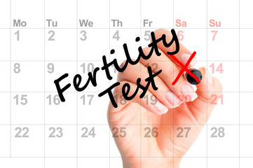 Fertility test date on agenda