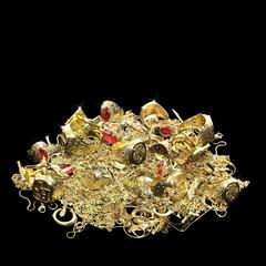Viel Schmuck aus Gold