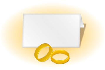 Biglietto matrimonio con anelli 3