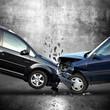 Leinwanddruck Bild - Auto Unfall
