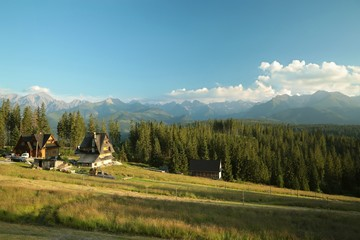 Rural landscape with a view of the Tatra Mountains, Poland