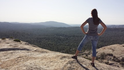 Bald Rock view with girl