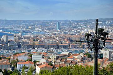 Quartier de Marseille vu de Notre de la Garde