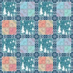 Patchwork christmas seamless pattern background