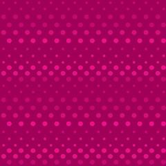 Seamless polka dot bright pink pattern