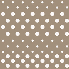 Seamless polka dot bright brown pattern