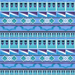 Geometric folk abstract vintage seamless pattern