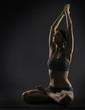 Yoga woman meditate sitting in lotus pose exercise
