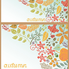 Decorative autumn leaves