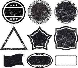 Set 9 rubber stamp template