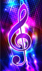 Abstract background with  treble clef
