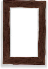 Old wooden frame. Vector illustration.