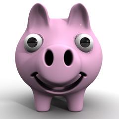 Свинья с выпученными глазами