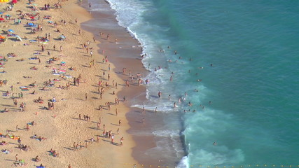 Panorama of Nazare, Portugal 2014 summer