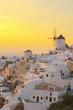 Obrazy na płótnie, fototapety, zdjęcia, fotoobrazy drukowane : windmill of Oia at sunset, Santorini