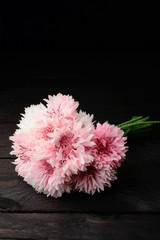 Bouquet pink cornflowers