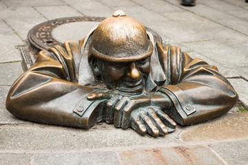 Čumil - traditional statue in Bratislava