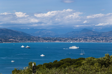 Antibes, France. Yachts in the Bay