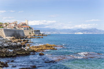 Antibes, France. Old town by the sea