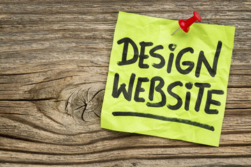 design website note