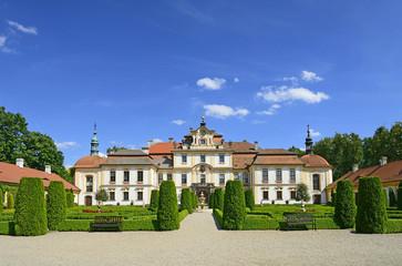 Baroque Chateau Jemniste, Bohemia. Czech Republic