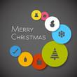 Simple modern minimalistic vector christmas card