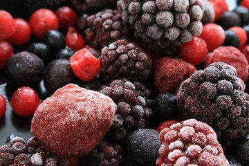 frozen summer fruits