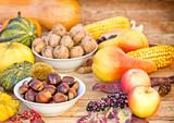 Autumn fruitage - autumn harvest poster