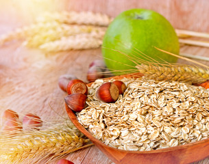 Oat flakes - healthy meal
