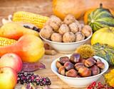 Autumn harvest - Autumn fruitage poster