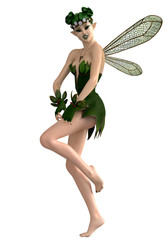 green pixie hapy pin up pose