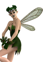 green pixie is high pinup pose