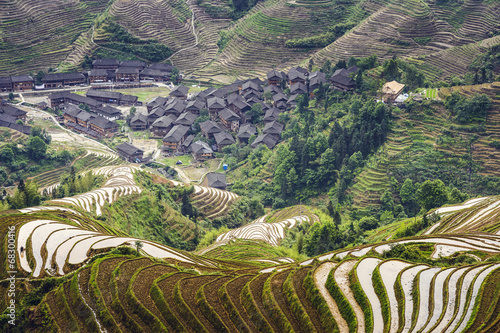 Longsheng Village in China