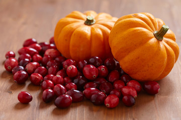 Pumpkin and cranberry