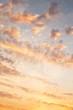 canvas print picture - Sonnenaufgang bei Gewitter als Hintergrund in Orange